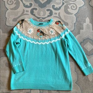 Talbots | Blue Bird Crew Neck Sweater ✨😍💗